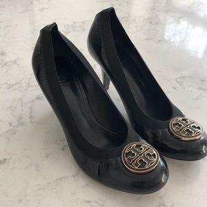 Tory Burch Black patent heels, size 8.5.